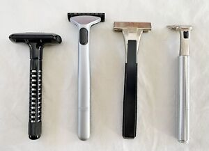 Lot of 4 Vintage Razors,: Wilkinson Sword, Gillette, Schick