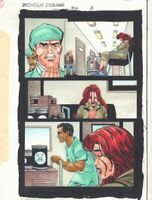 Spectacular Spider-Man #236 p.3 Color Guide Art - MJ with Doctors by John Kalisz