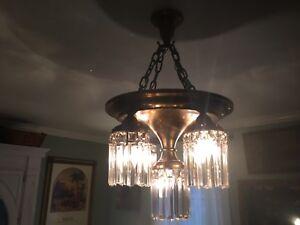 Antique Bronzed 5 Light Chandelier Circa 1920