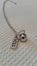* WEIGHT LIFTING / GYM *  Kettlebell - I WILL - Necklace