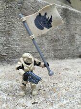 Halo Mega Bloks Set #CNK25 UNSC Fireteam Rhino Figure #2 With Flag!!