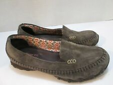 Skechers Bikers Loafers Women's Chocolate Brown Suede Slip on Shoes Size 7.5
