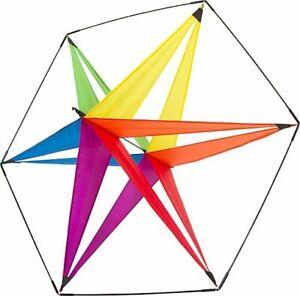 Box Kites Star Yellow Dragons Kites Sterndrachen Facets Van