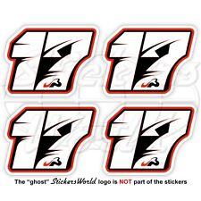 """JULES BIANCHI 17 Schwarz Formel 1 Fahrer F1 50mm (2"""") Vinyl Sticker Aufkleber x4"""