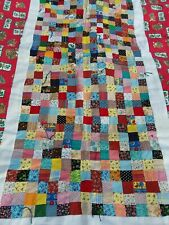 """Vintage Kitten Cat Calico Print QUILT Red Hearts  Meow 38"""" x 58"""" Blanket Throw"""