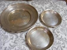 STERLING SILVER Lot 3 MINIATURE Vanity Coin TRAYS DISH 87g Scrap JEB James Blake