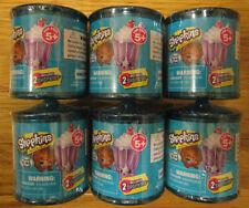 SHOPKINS FOOD FAIR 2 PACKS CANDY JARS MYSTERY BLIND FIGURE LOT OF 6 PACKS
