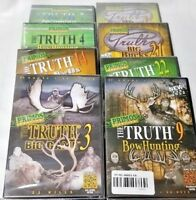 Lot of 8 Primos THE TRUTH DVD's, Turkey, Bow Hunting, Big Game, Big Bucks NEW