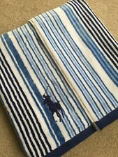 "RALPH LAUREN BLUE MULTI STRIPE BEACH POOL TOWEL 66"" X 35"" BNWT"