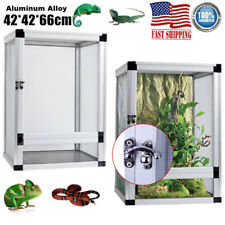 Screen Reptile Enclosure Cage Habitat Lizard Frog Pet House Snake Box 42*42*66cm