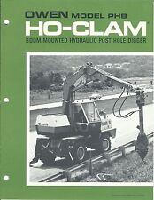 Equipment Brochure Owen Ho Clam Hydraulic Post Hole Digger E3515