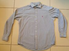 Ralph Lauren Long sleeve Shirt size 16.5  Blue and white checked, custom fit