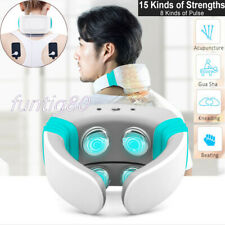 Electric Pulse Back Neck Cervical Heating Massager Acupuncture Pain Relief Gift