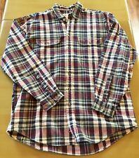 Eddie Bauer Mens Flannel Button Down Size Work Wear Outdoor Large Tall EUC