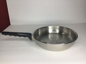 "Vintage Lifetime Cookware 18-8 Stainless Steel Fry Skillet Sauté Pan 9 1/2""  USA"