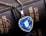 Titanic Kette Herz des Ozeans Anhänger Halskette Silber Kristall Strass Schmuck
