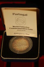 "Portugal 1984  250 escudos ""World fisheries"" silver PROOF in original box-case"
