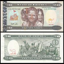 Eritrea 20 Nakfa, 1997, P-4, UNC