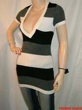 Short Sleeve Striped Long Jumpers & Cardigans for Women