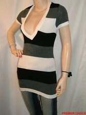V Neck Short Sleeve Striped Jumpers & Cardigans for Women
