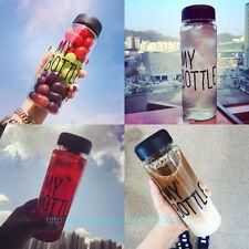500ML Clear My Bottle Sport Fruit Juice Water Cup Portable Travel Plastic Bottle