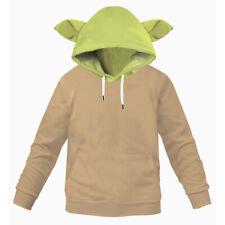 Mandalorian Baby Yoda Hoodie Kids Child Cosplay Pullover Sweatshirt Coat