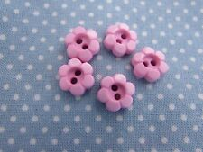 11mm and 15mm Pink Daisy Shaped Flower Buttons in Assorted Pack Sizes