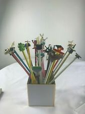 Vintage Wooden Pencils  w/characters.Lot of 23.