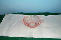 MAYFAIR OPEN ROSE PINK DEPRESSION GLASS CREAM SOUP BOWL HOCKING d