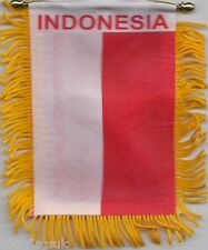 Indonesia Indonesian Flag Hanging Car Pennant for Car Window or Rearview Mirror