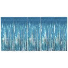 Pack of 5 Baby Blue Foil Door Shimmer Curtains - Party Decorations - Curtain