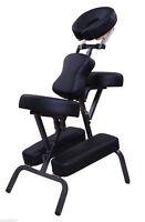 "3"" Portable Massage Chair Stool Beauty Tattoo Facial Spa Health W/ Free Bag BK"