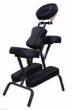 "3"" Portable Massage Chair Stool Beauty Tattoo Facial Spa Health W/ Free Bag BK"