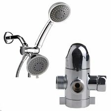 3-Way Shower Head Diverter Mount Combo Shower Arm Mounted Valve Fix Bracket New