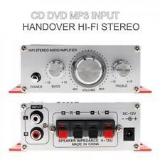 12V Mini 2CH Hi-Fi Amplifier AMP Radio MP3 Stereo Audio for Car Motorcycle Boat