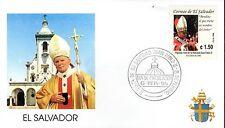 857-  FDC VATICAN VISITE PAPE JEAN PAUL II   AU   SALVADOR