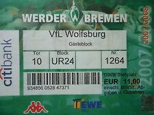 TICKET 2007/08 SV Werder Bremen - VfL Wolfsburg