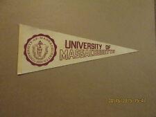NCAA University Of Massachusetts Vintage 1970's Pennant
