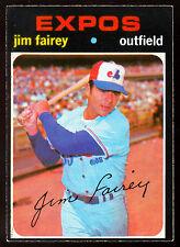1971 TOPPS OPC O PEE CHEE BASEBALL #474 JIM FAIREY EX-NM MONTREAL EXPOS CARD