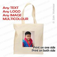 Personalised TOTE Cotton BAG Custom TEXT PHOTO LOGO Print fr Birthday, Hen Party