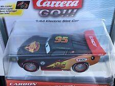 Carrera GO 64050 Carbon Lightning McQueen Car w/NEON Lights 1/43 Scale Slot Car