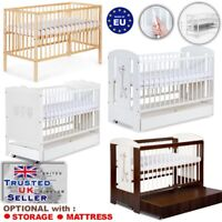 WOODEN BABY COT BED  Safari GIRAFFE / Marsell /RadekX + MATTRESS/DRAWER options