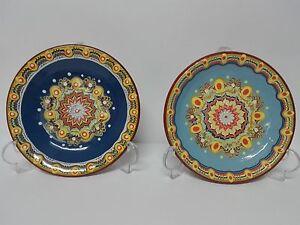 Assiette Décorative De Céramique Peint À Main 19cm Couleur À Choix