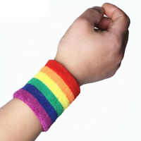 Classical Rainbow Color Matching Badminton Running Breathable Fitness Wristband