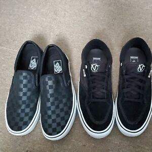 2 pairs Vans off the wall black sneakers