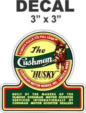 1 Cushman Husky Vinyl Decal