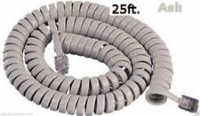 Cablesys 2500As 25-foot Coiled Phone Handset Cord - Ash (Gcha444025-Far)