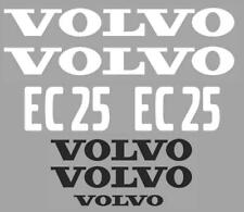 Decal Sticker Set pour VOLVO EC25 Mini Digger Bagger Pelle