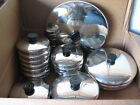 Replacement Stainless Steel LIds for  Revere Ware Pans   5 1/2 6 7 8 9 10 12 in