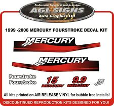1999 2000 2001 2002 2003 2004 2005 2006  MERCURY 15 hp Reproduction Decals  9.9